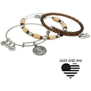 Alex and Ani Wildberry Bracelet, Set Of 3